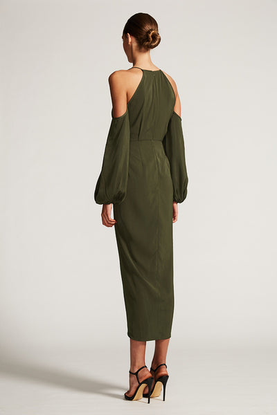 CORE OPEN SHOULDER MAXI - KHAKI