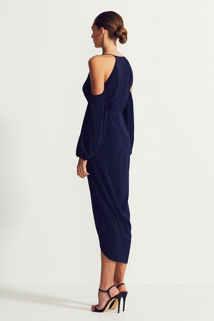 CORE OPEN SHOULDER MAXI - NAVY