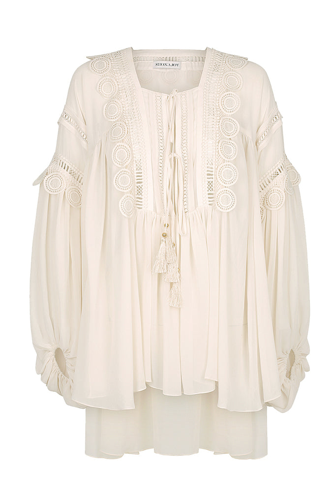 RAFAELLA OVERSIZED BLOUSE - BONE