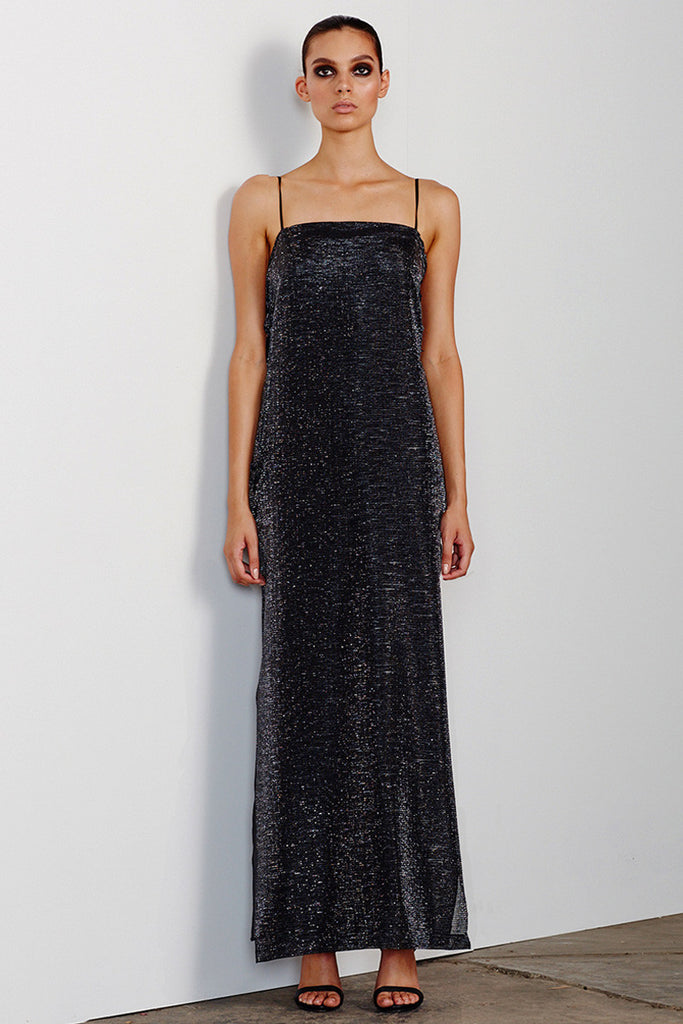 ESMERALDA BACKLESS SLIP - CHARCOAL