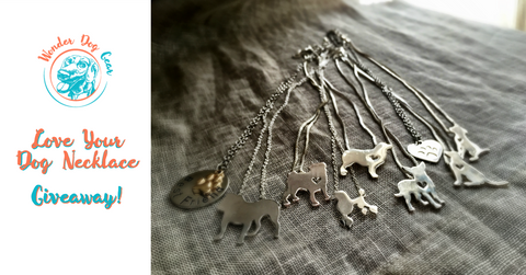 Dog necklace giveaway Dog jewelry