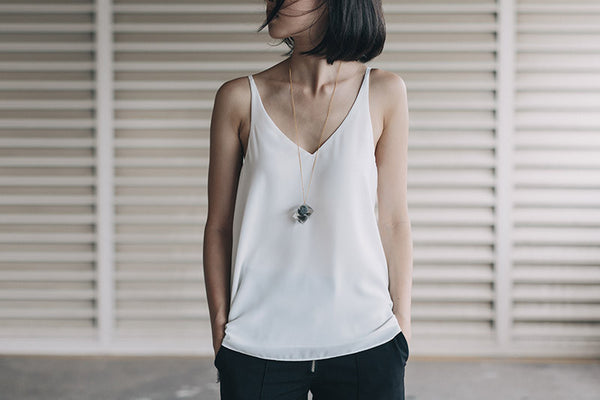 ` Tenacity Necklace - Khaki Marble