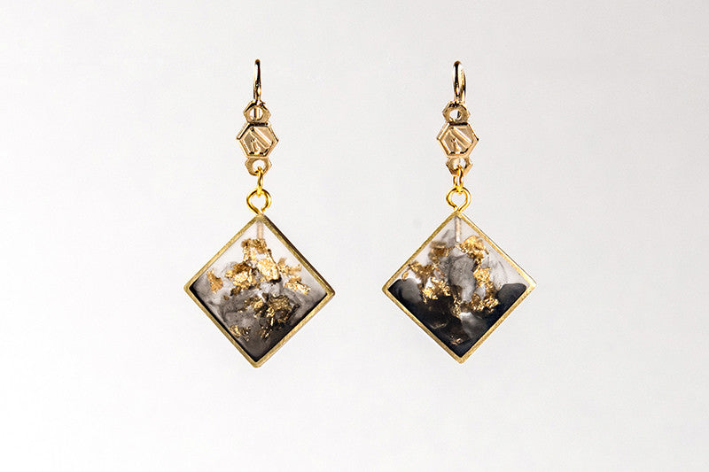 Micro Flakes Of The Night Earrings - Tainted Foil