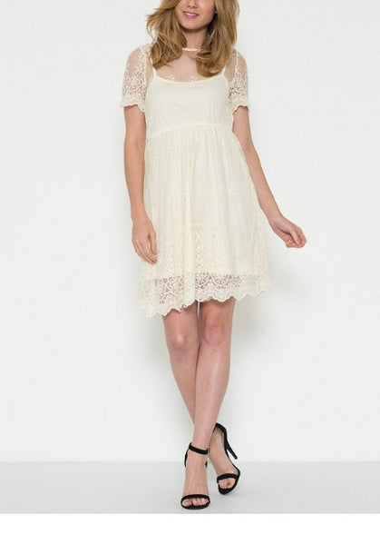 Chantilly Border Lace Dress