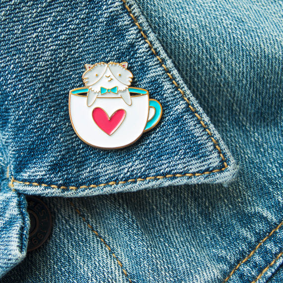 Coffee Cat Pin