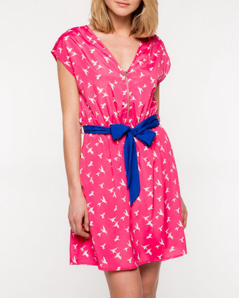 Dove Dress in Fuchsia