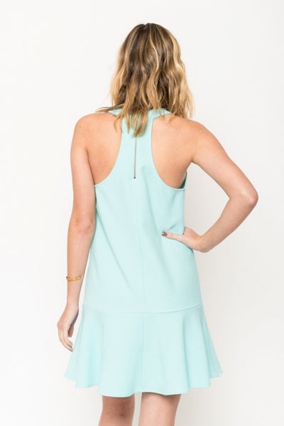 Mint Green Drop Waist Dress