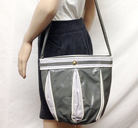 Vintage Grey Bucket Handbag