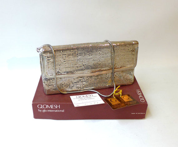 Vintage Silver Glomesh Handbag in original box