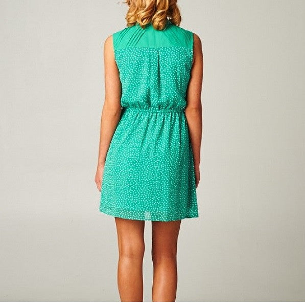 Adorable Mini Hearts Buttoned Dress