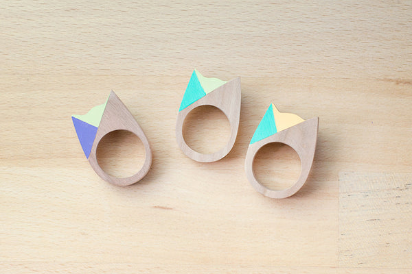 Cat Ring - Pastel Two-faced - Turquoise Orange