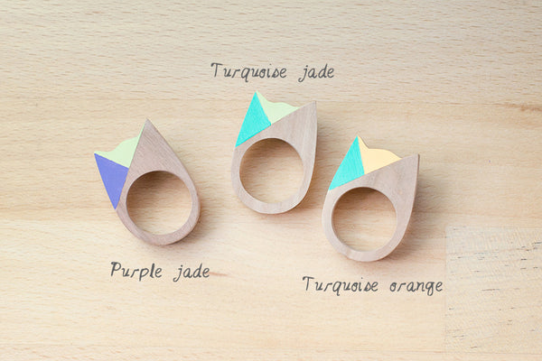 Cat Ring - Pastel Two-faced - Turqoise-Jade