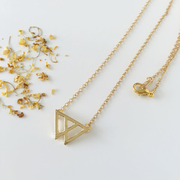 ~ Mount Fuji Necklace in Gold