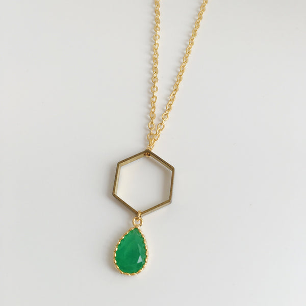 Dulcetfig Faceted Collection - Hexagon Emerald