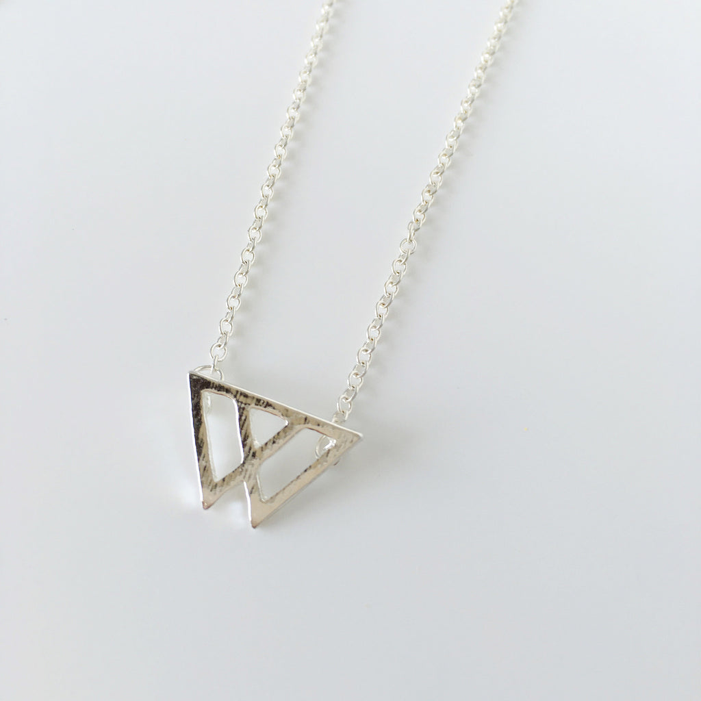 ~ Mount Fuji Necklace in Silver
