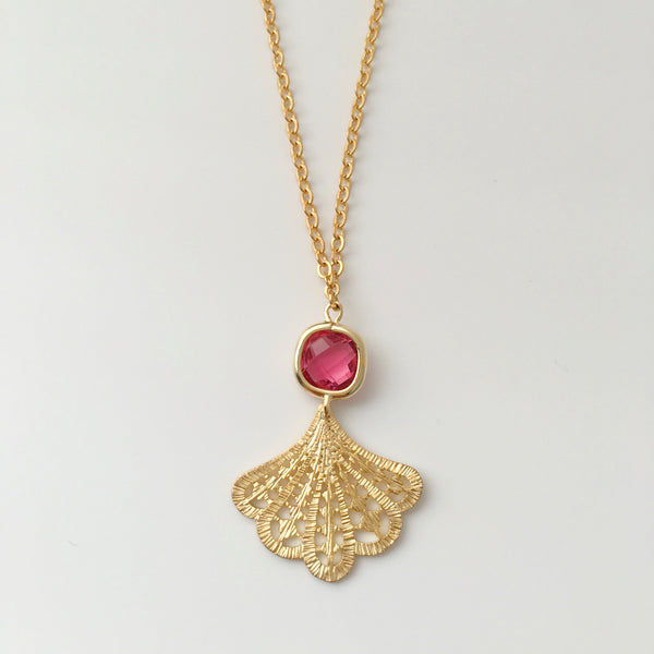 Dulcetfig Faceted Collection - Fan Ruby Red