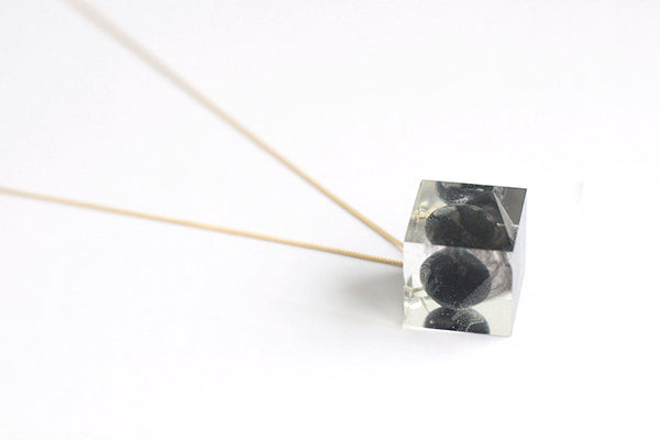 ` Tenacity Necklace - Black Marble