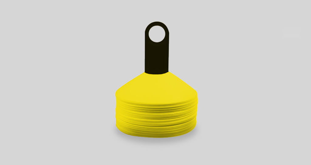 Deploy Football Yellow Marker Cones 50 Pack