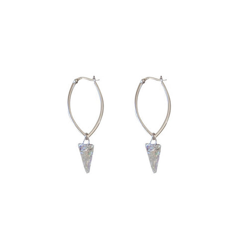 iridescent love earrings
