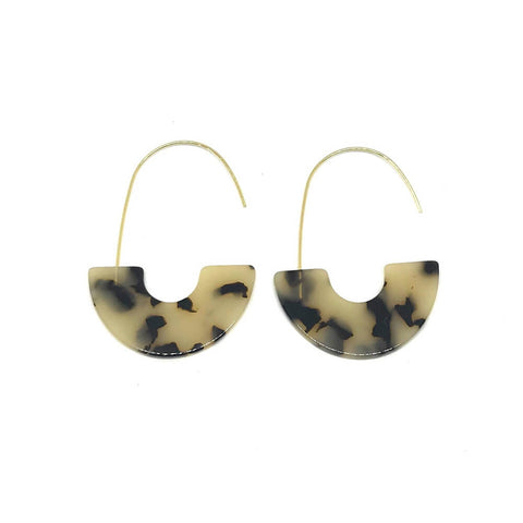 ZETA EARRINGS - TORTOISE