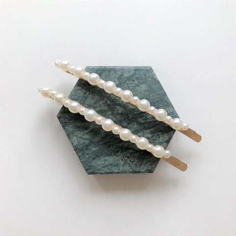 the jewel fix mixed pearls skinny barrette set