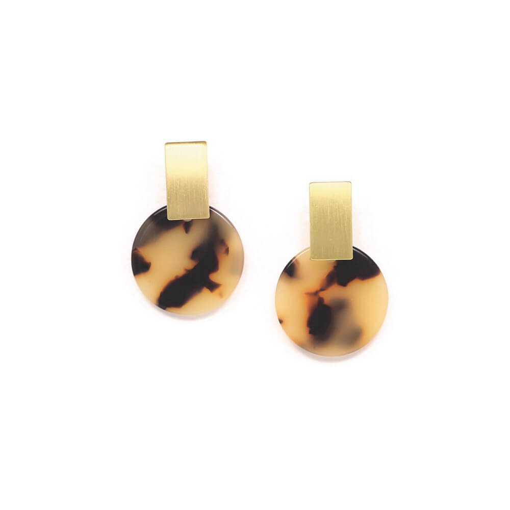 jupiter drop earrings tortoise