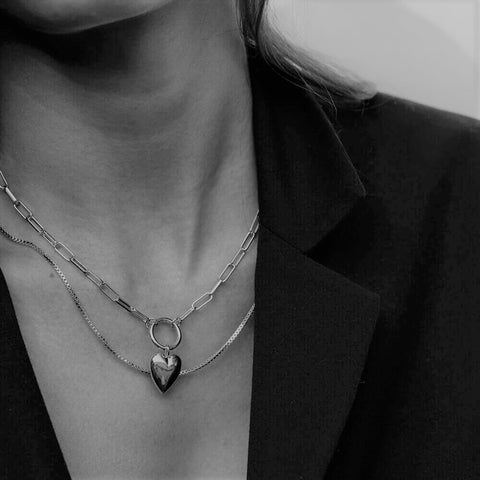 ines heart necklace