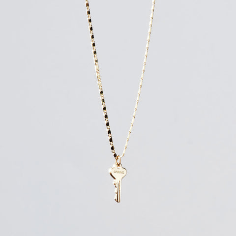petite key necklace courage