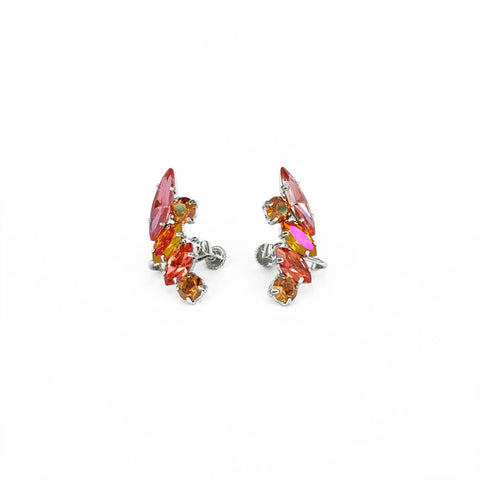 Earrings - CRYSTAL CRESCENT EAR CUFFS