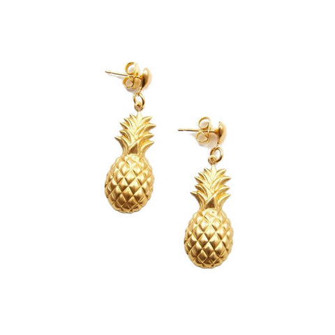 frasier sterling gold pineapple earrings