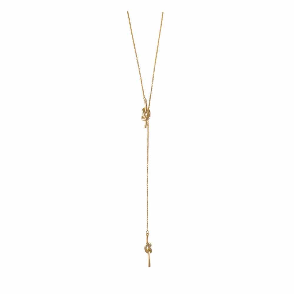 forget me knot lariat necklace gold