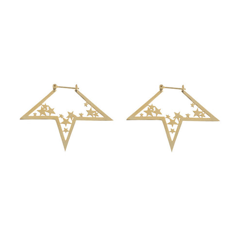 nova earrings gold
