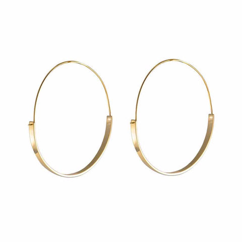 full circle hoop earrings gold