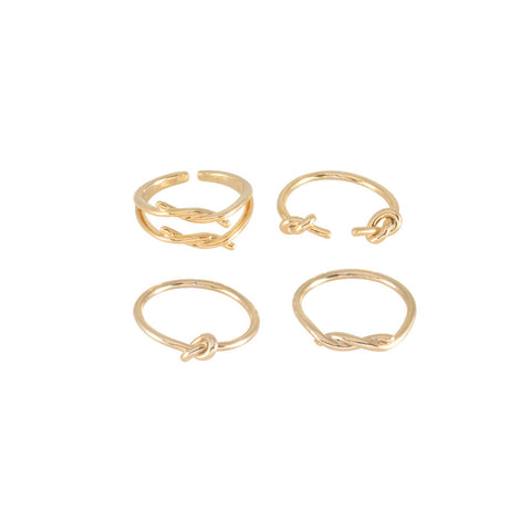 knot stack rings gold