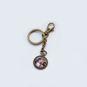 Photo with Rabbit back Keychain Personalised