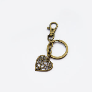 Floral Heart Keychain Personalised