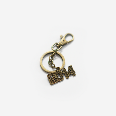 2014 number Keychain Personalised