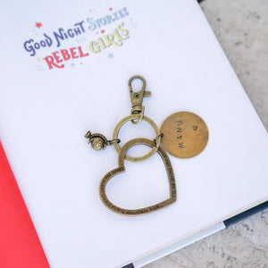 Globe / Heart Personalised Keychain