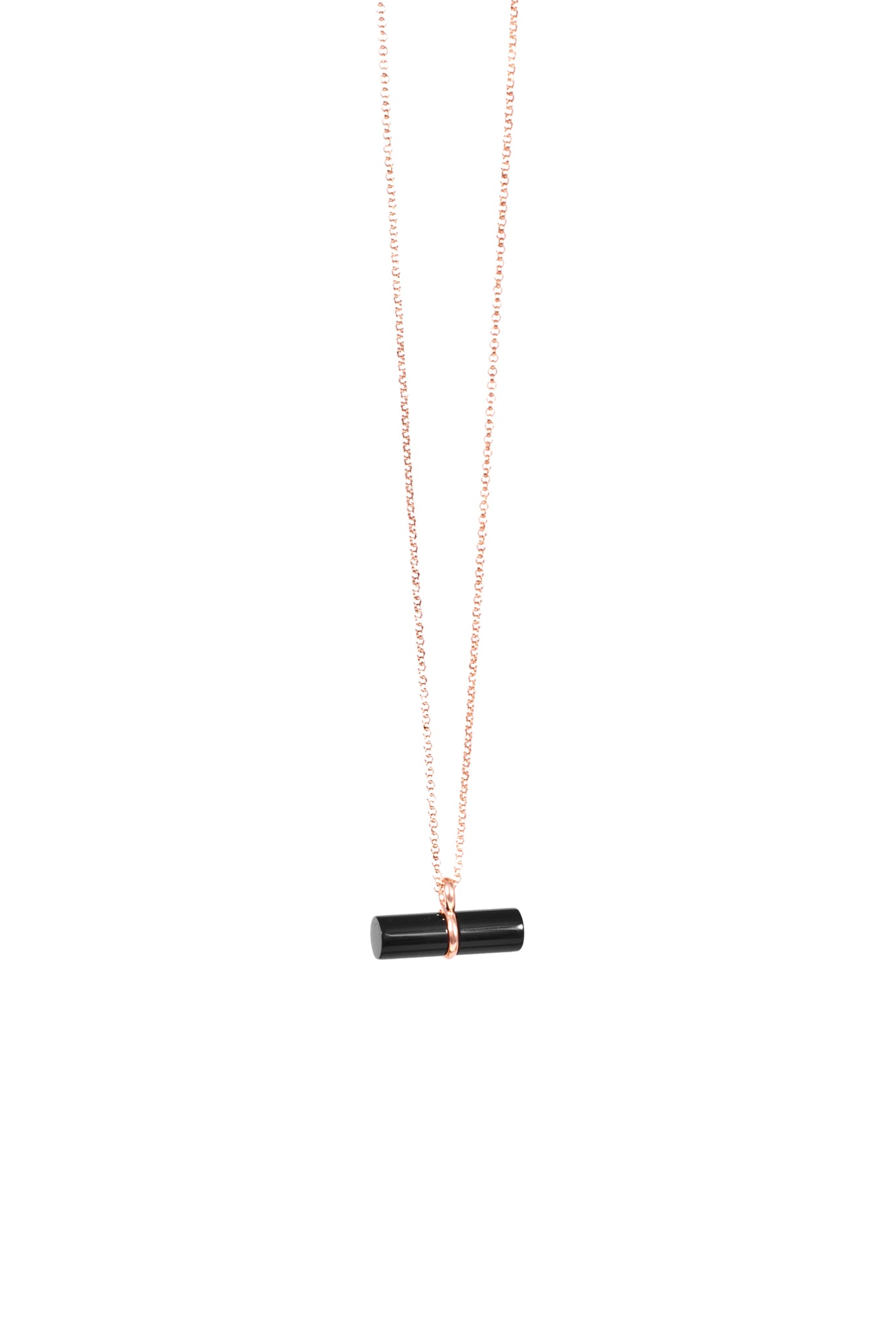 LTAF Necklace rose & Onyx