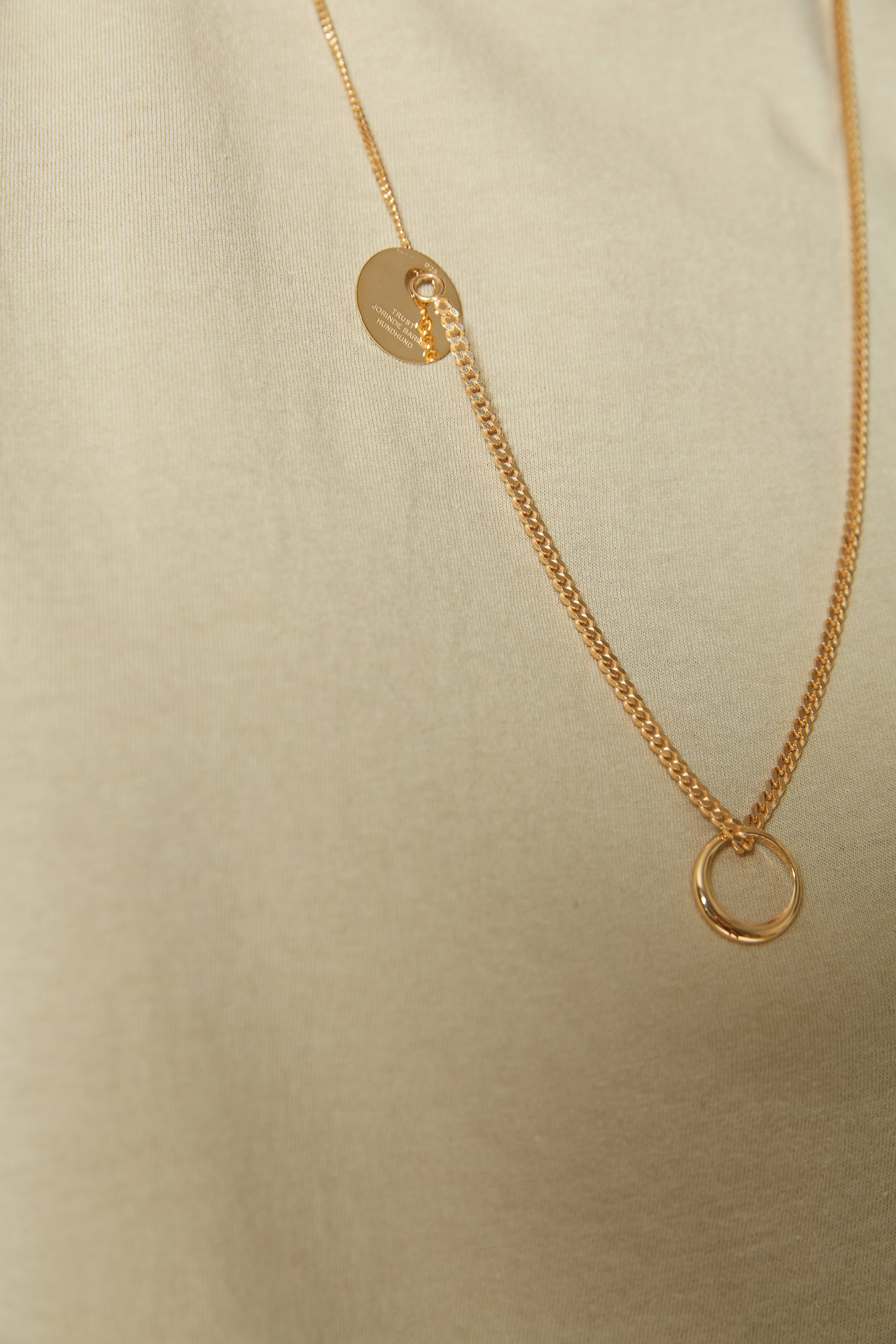 TRUST Necklace yellowgold