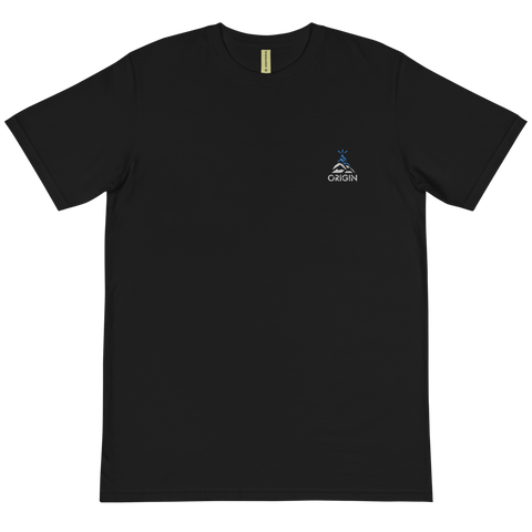 Peak (Black) Embroidered Organic T-Shirt
