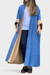 Denim Teddy Bisht