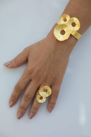 Double Circle Ring and Bracelet Set