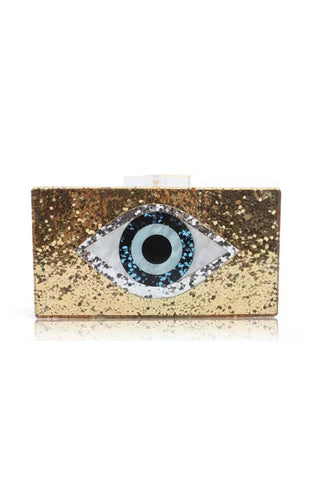 Gold Evil Eye Clutch