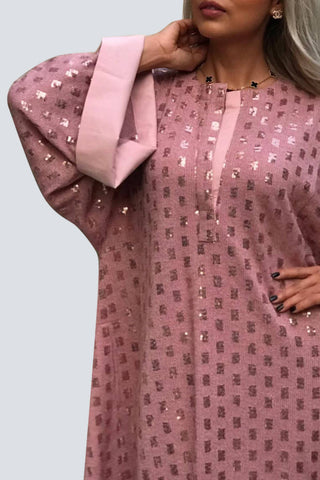 Winter Pink Kaftan