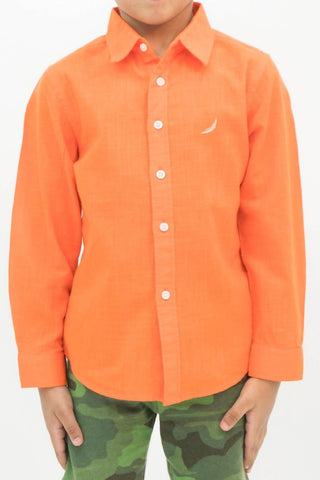 Mendoo Kids Linen Shirt - Tiger