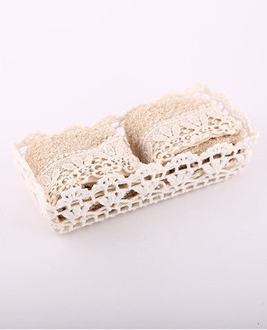 Hand towel lace set