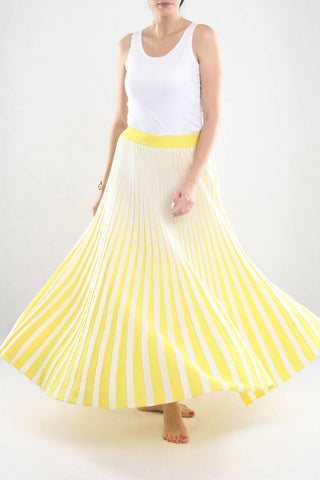 White & Yellow Skirt