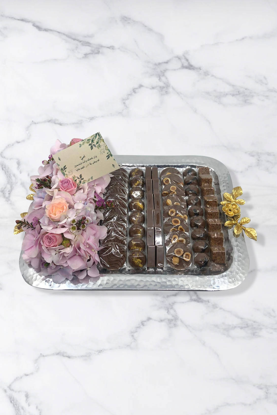 Mother's Day Floral Tray With Chocolates