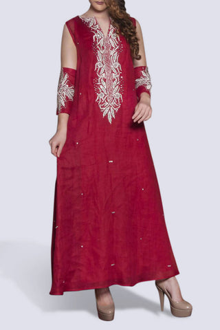 NO. 13 - Red Embroidery Kaftan